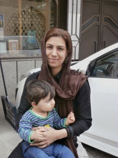 A mother in Isfahan and her child.