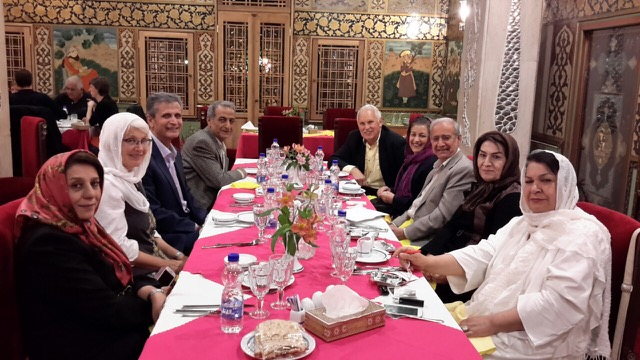 Dr. Zand and a few friends hosted a dinner party at the Abbasi for Fred Noland's 76th birthday.