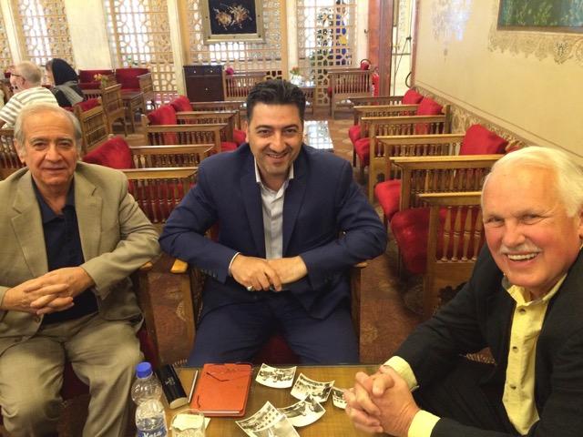 Representative of Isfahan Mayor's office, Ali Reza Khayyam (center) meets with Fred Noland (right) and Fred's former Isfahan University student, Dr. Hassan Zand.